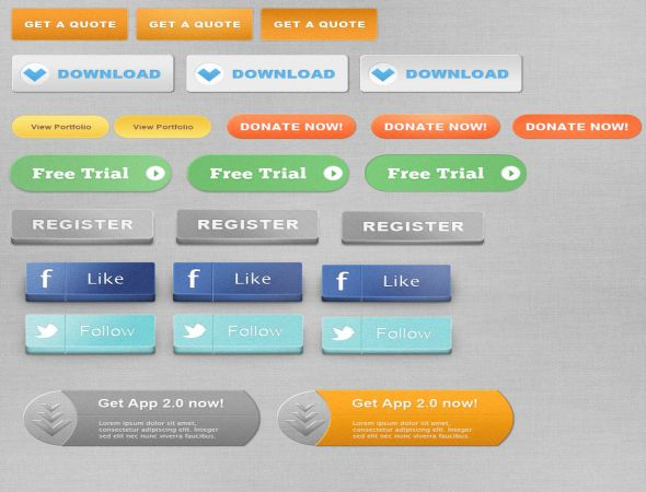 Free Web Social Buttons Download