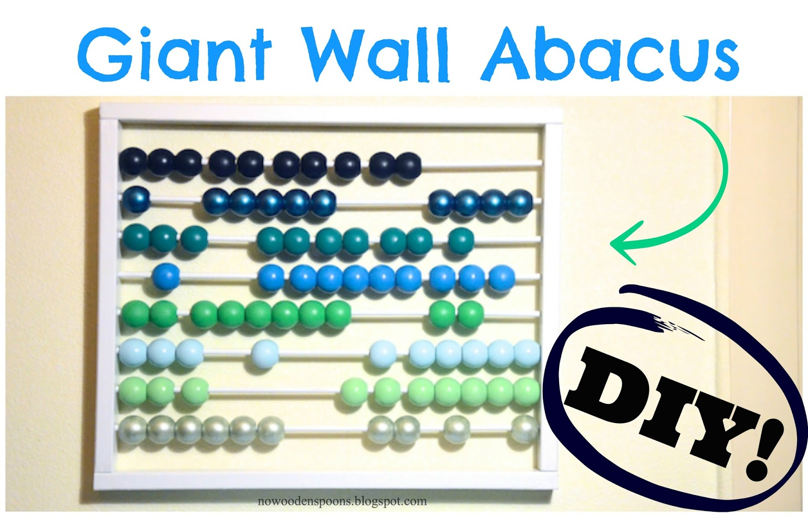 Abacus Wall Art No Wooden Spoons Giant Wall Abacus Diy