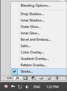 Strok Option in Adobe Photoshop CS5