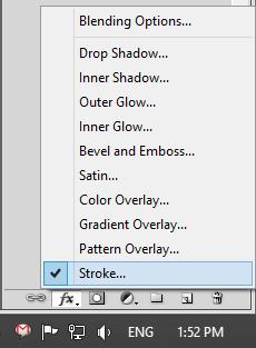 Strok Option in Adobe Photoshop CS5