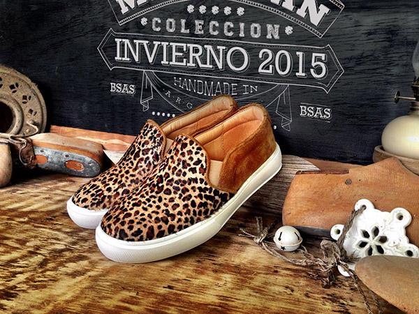Panchas de cuero animal print Marignan.