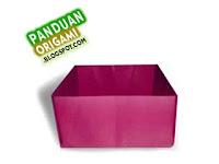 Panduan Membuat Origami Wadah Kotak