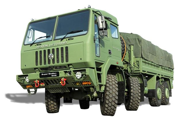 Ashok Leyland Super Stallion 8x8 HMV High Mobility Vehicle