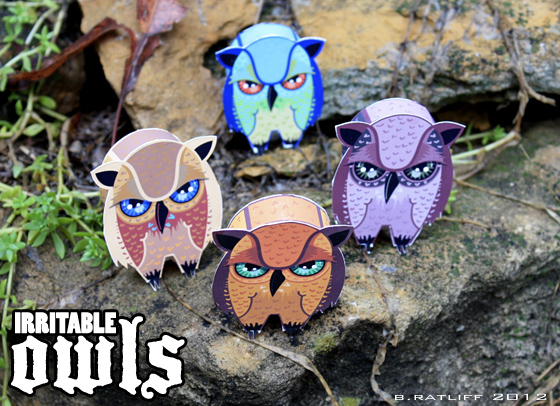Irritable Owl Paper Toy