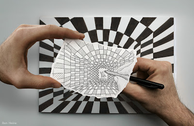 Artist Ben Heine draws the line between fantasy and reality with his art, Pencil vs Camera