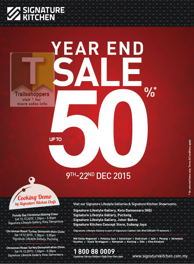 Signature Kitchen Year End Sale
