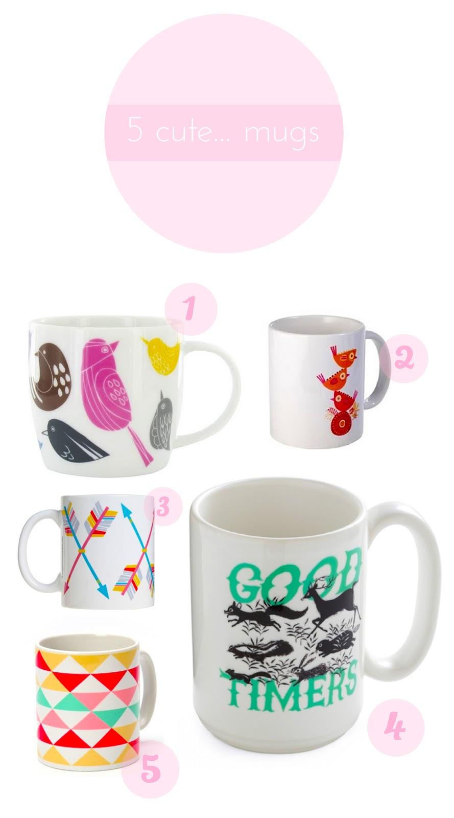 Something Nice Designs 5 Cute Mugs