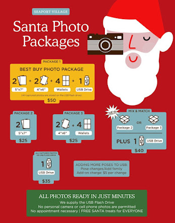 ~ 2018 SANTA PHOTO PACKAGES ~