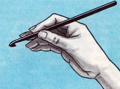 Вязание крючком: как правильно держать нитку и как правильно держать крючок.