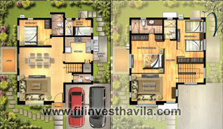Vivaldi House Model Floor Plan at Highlands Pointe Taytay