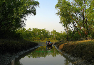 Beautiful scenery of boat riding in Nijhum Dweep
