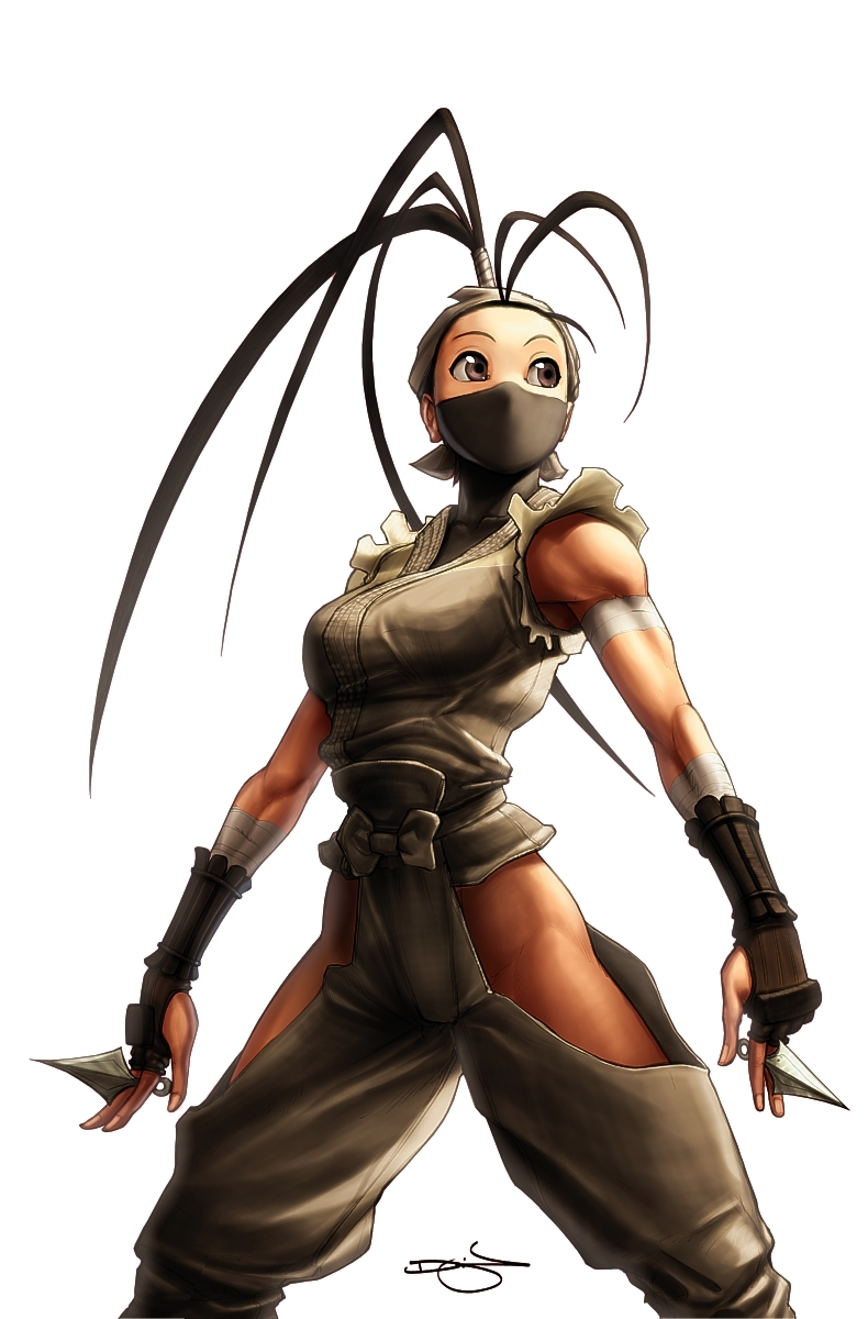 Street fighter girl anime female ninja