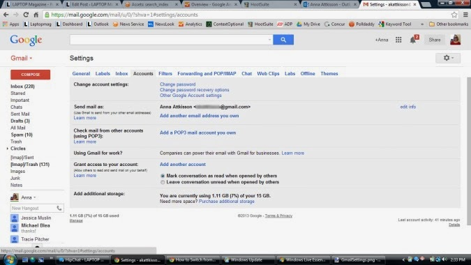gmail accounts screenshots