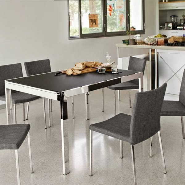 One hundred home modern kitchen tables for small spaces for Dining table for small spaces modern