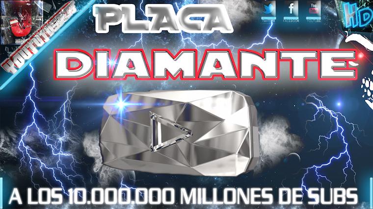 BOTON DE DIAMANTE DE YOUTUBE A LOS 10.000.000 DE SUSCRIPTORES   2015