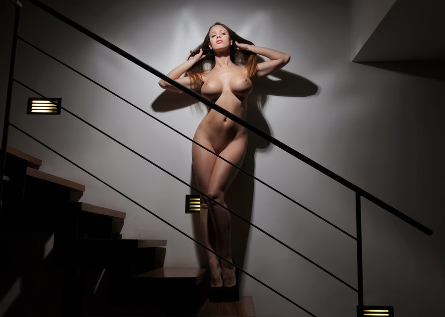 Lucia Javorcekova naked on stairs