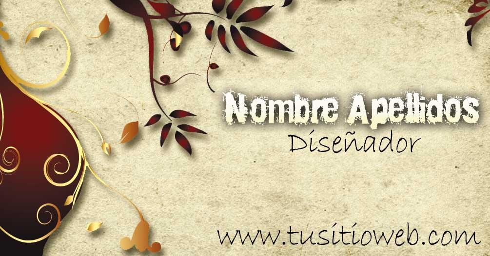 Plantilla .psd para tarjetas de presentacion