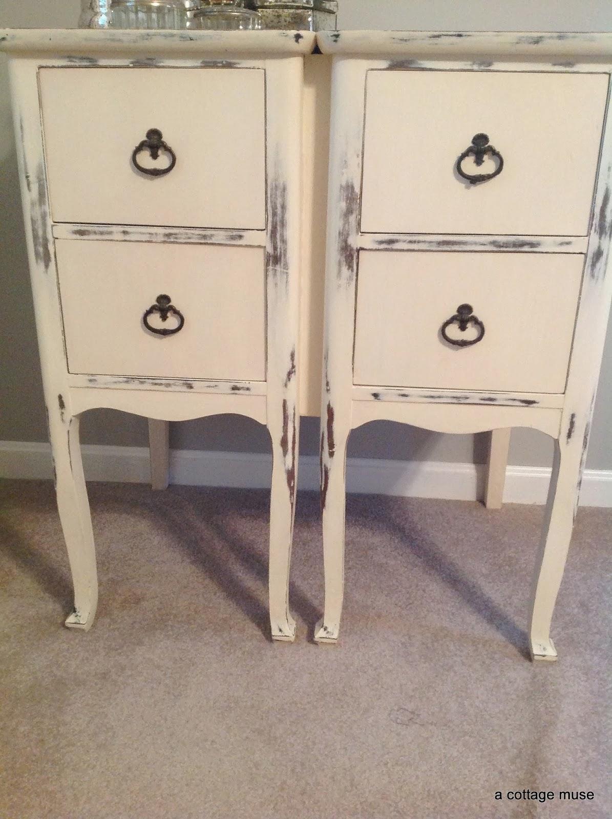a cottage muse vintage nightstand. Black Bedroom Furniture Sets. Home Design Ideas