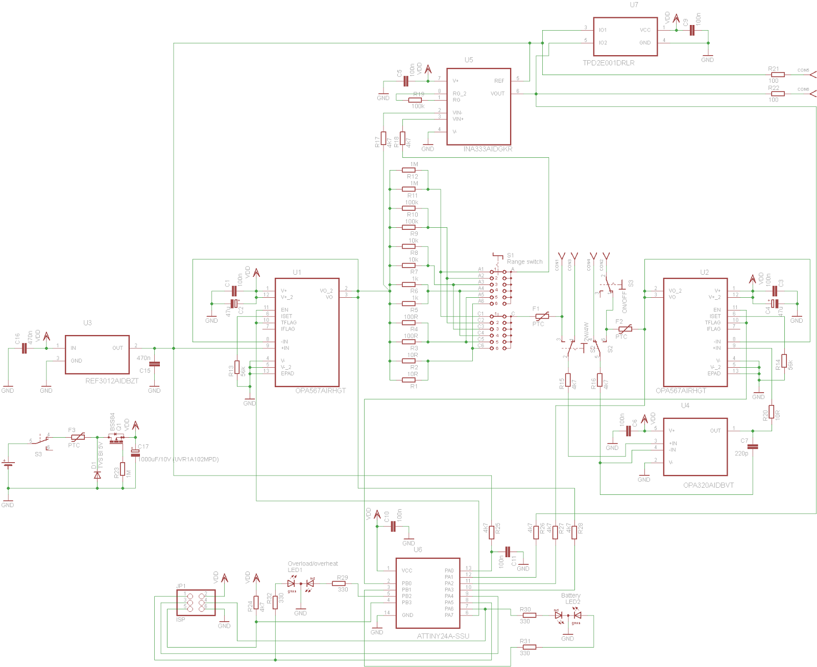 Kaktus Circuits Building A 100 Ma Transimpedance Amplifier Electronic And Diagram Figure 2 Complete Schematic Of My