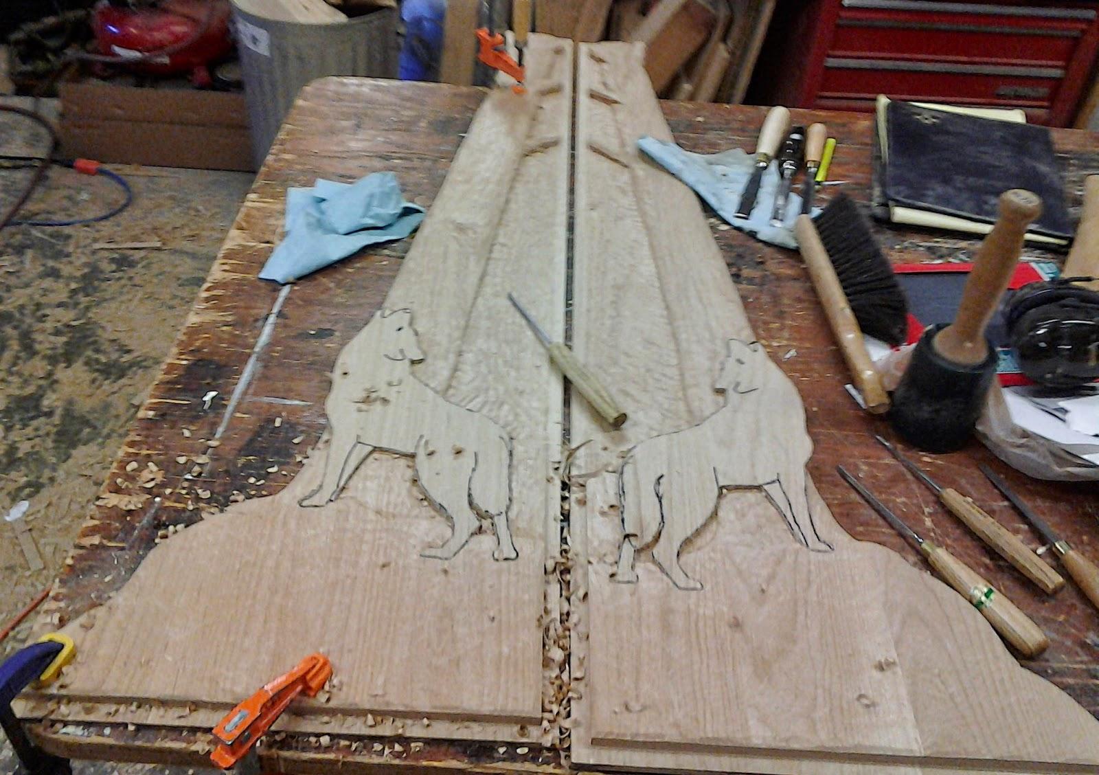 carving, john, huisman, ely, mn, details, progress, huismanconcepts.com