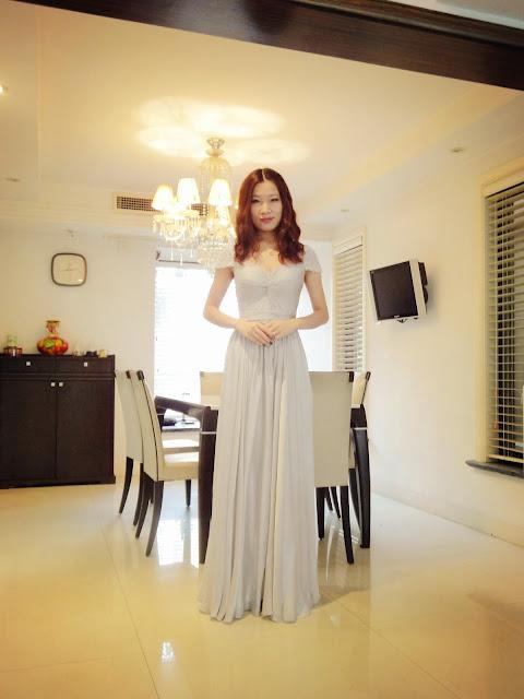 Pale-gray Sweetheart Neckline A-line Silk Chiffon Prom Dress | Misha ...