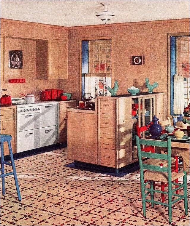 Vintage Girl Retro Wnętrza Kuchnia W Stylu Lat 20 Oraz 30