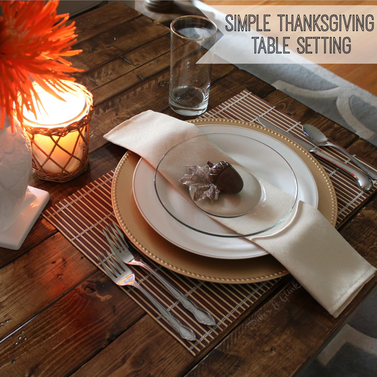A Simple Inexpensive \u0026 Elegant Thanksgiving Table Setting pitterandglink.com : inexpensive dinnerware - pezcame.com