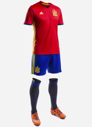 equipacion de la selección española de fútbol primera Eurocopa 2016