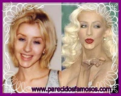 Christina Aguilera antes y después