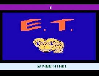 Captura de pantalla inicial de ET, ATARI, 1982