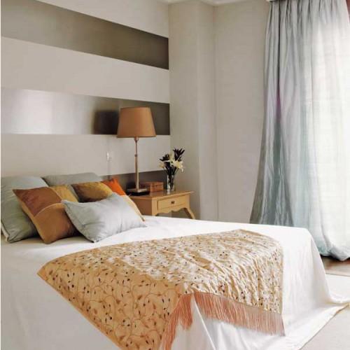 Dormitorios con rayas dormitorios con estilo - Decoracion pared dormitorio ...