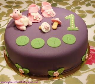 Lila tårta