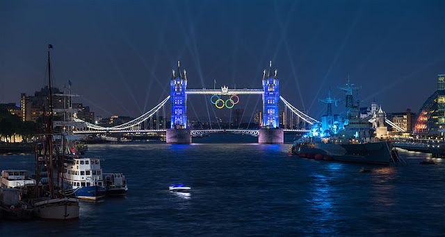 Olympic London- Tower Bridge with Olympic Rings - London, UK | Travel London Guide