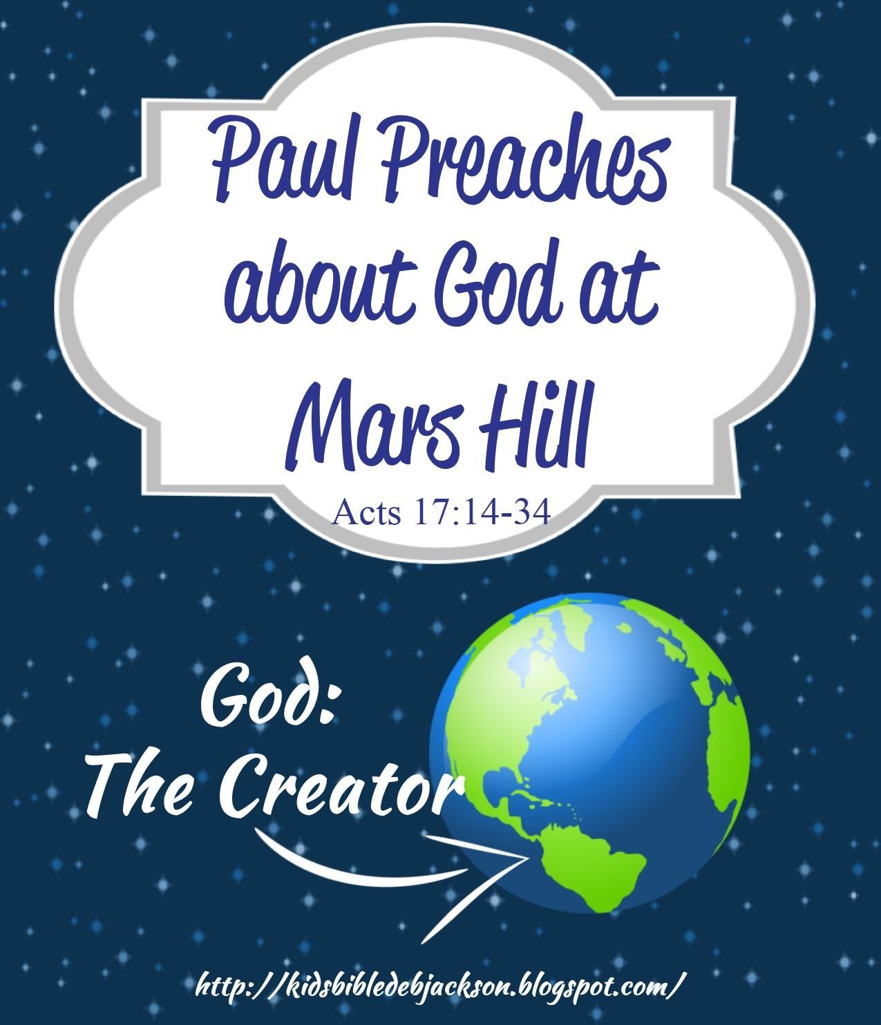 http://kidsbibledebjackson.blogspot.com/2015/03/paul-preaches-about-god-at-mars-hill.html