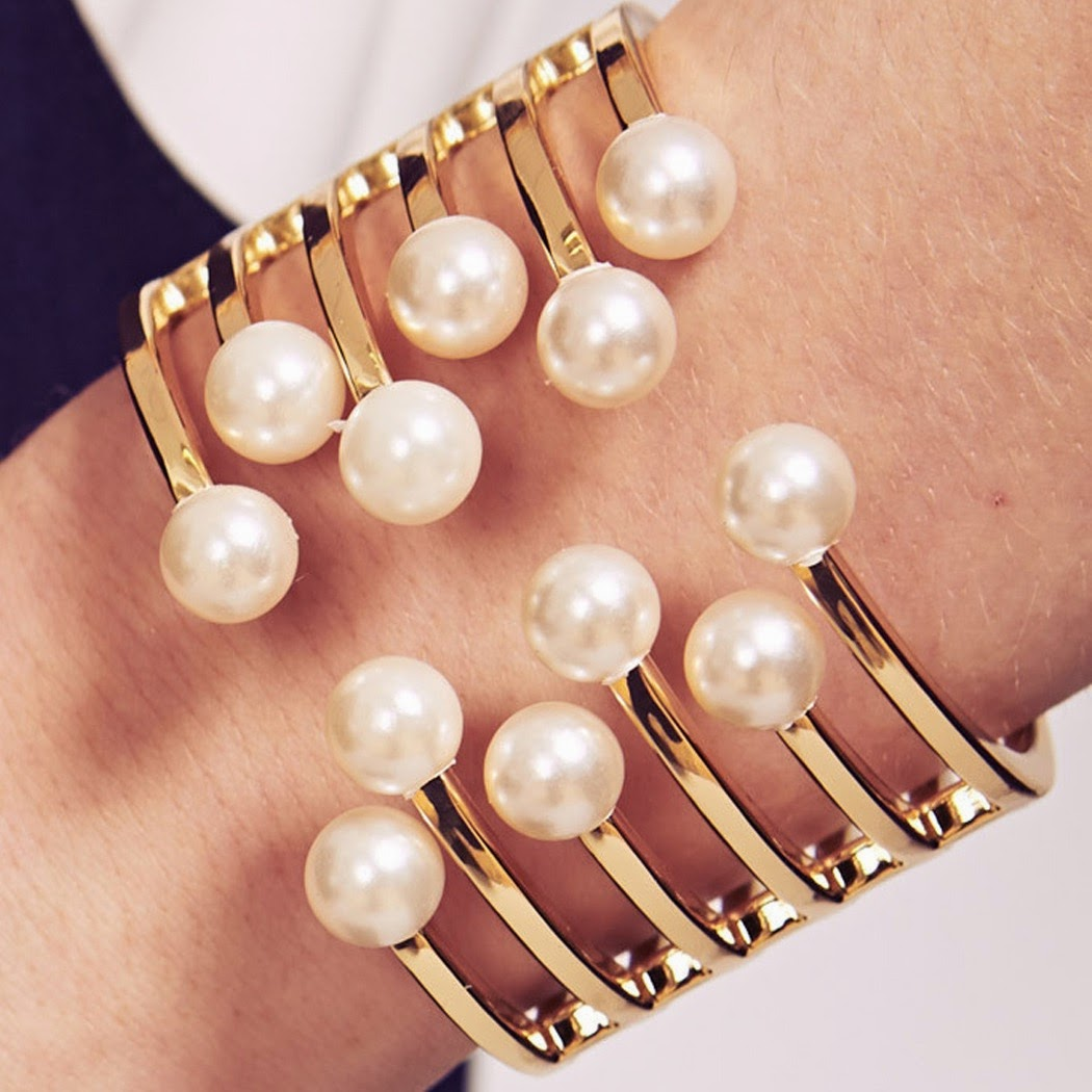 The Look for Less: Rihanna Pearl Bracelet Cuff