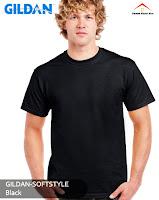 Kaos Polos Gildan Soft Style black