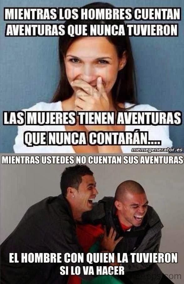 Mientras los hombres cuentan aventuras...
