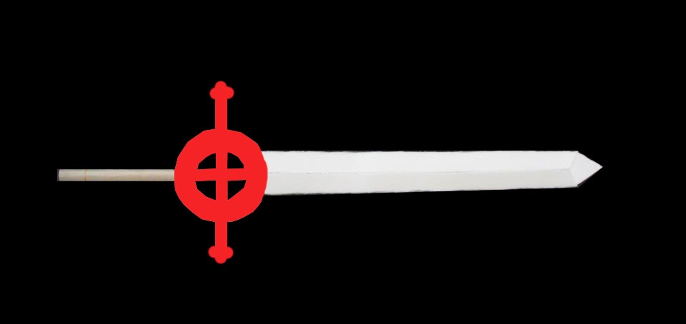 CosStitch: Finn's Demon Blood Sword Cross Guard