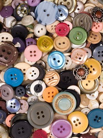 Heap of vintage buttons.