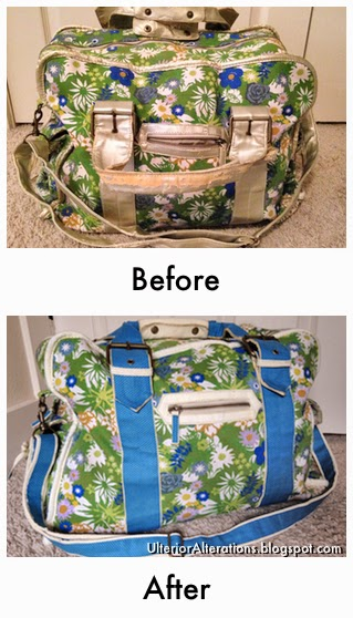 Ulterior Alterations: Weekend Bag Fix Before & After