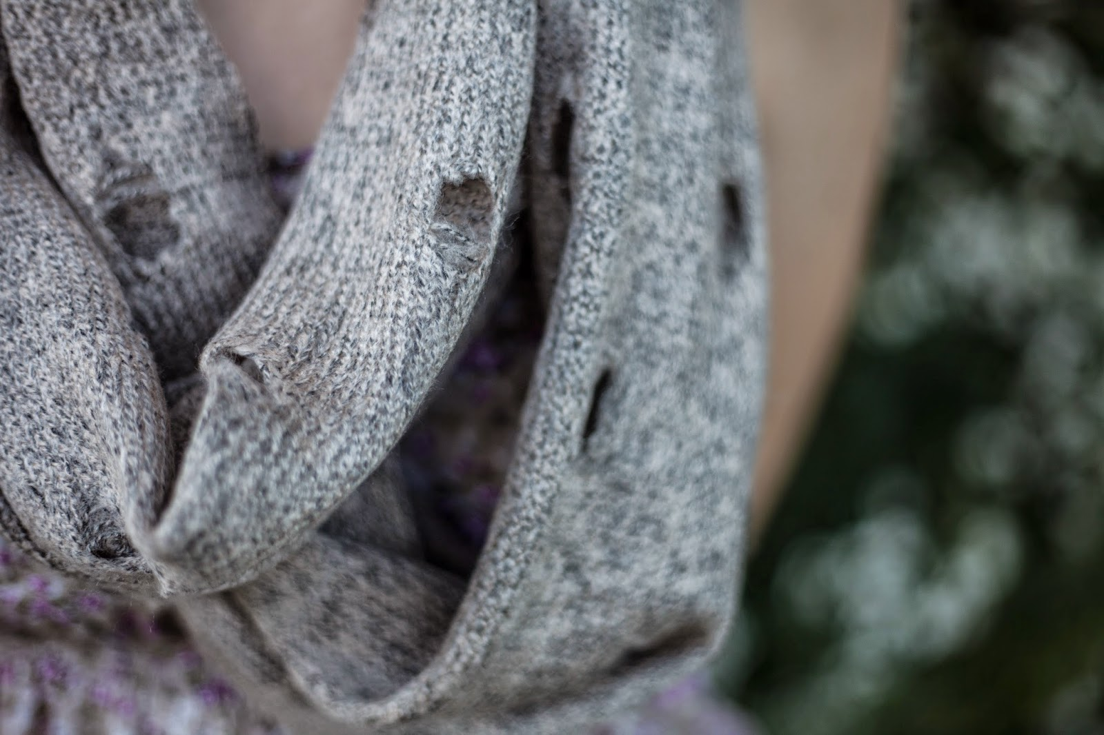 Gertie and Baxter infinity knit scarf