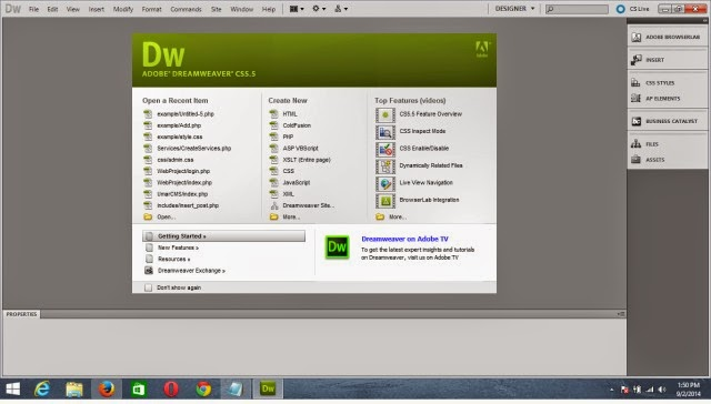 Download Adobe Dreamweaver cs5