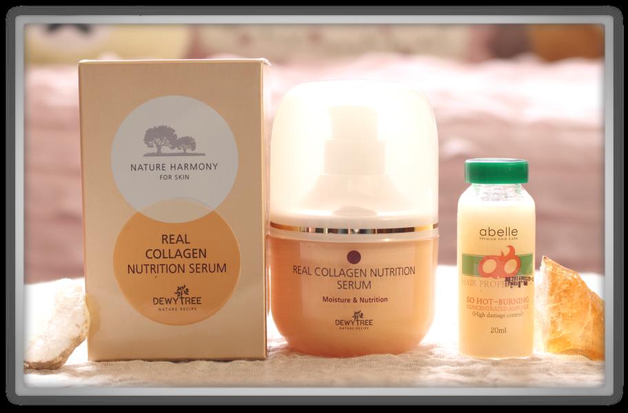 겟잇뷰티박스 by 미미박스 memebox beautybox Superbox #33 Collagen box unboxing review preview deweytree real  nutrition serum abelle so hot burning concentrate ampoule