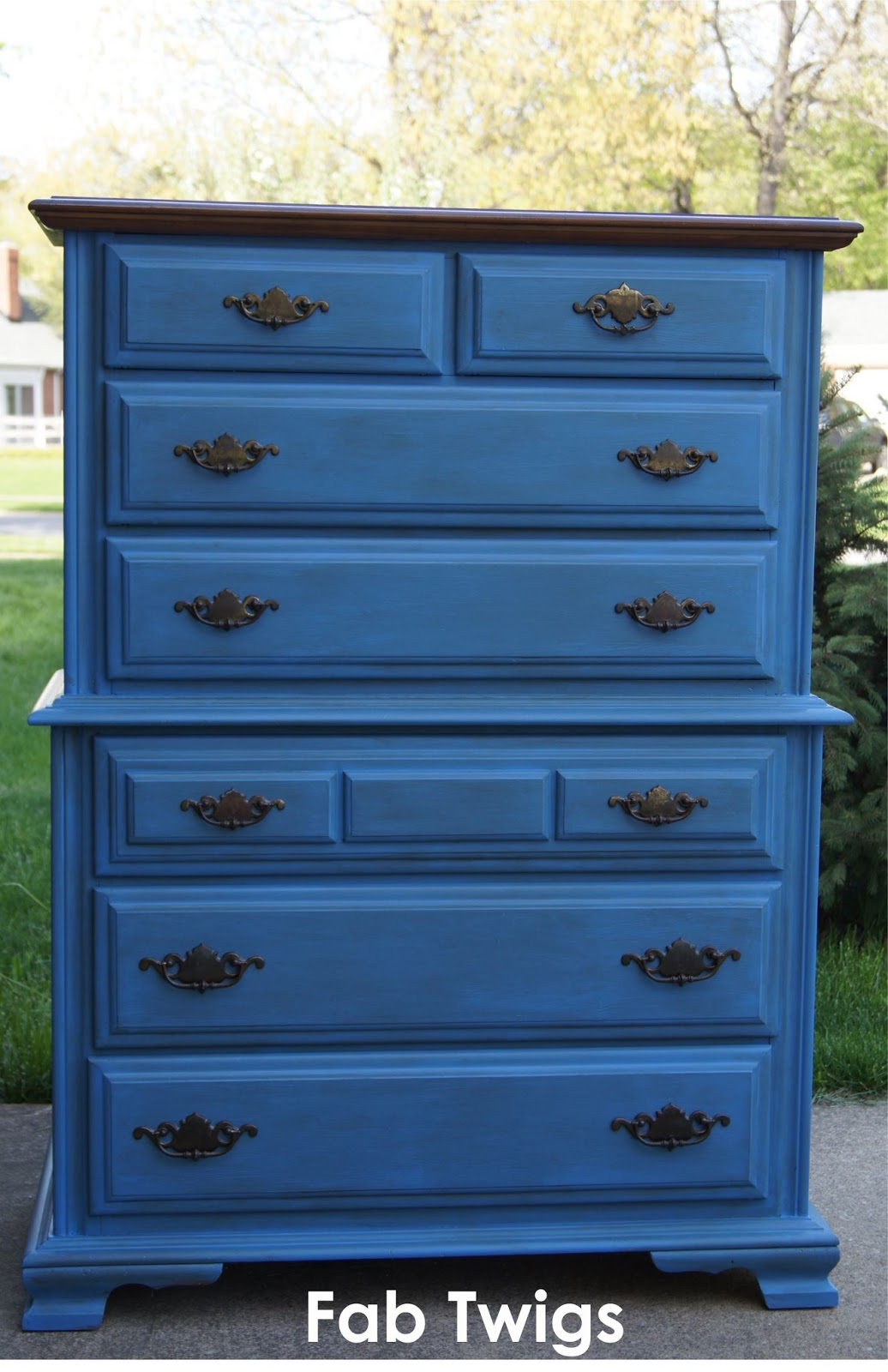 Fabtwigs dresser transformation painting furniture with Best color to paint dresser