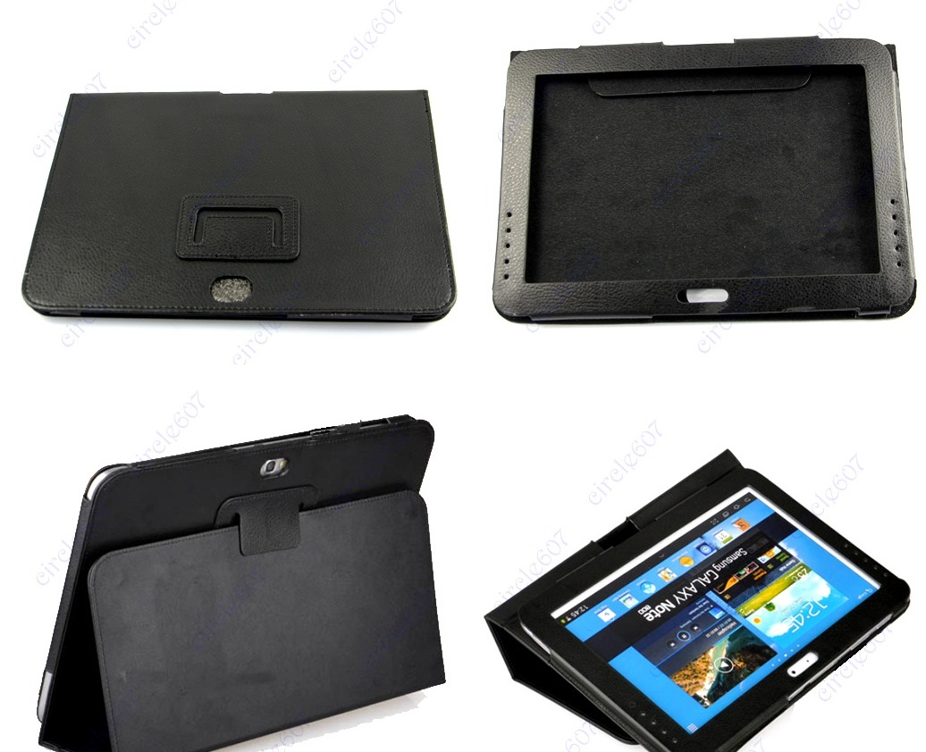 Jual Leather Case Samsung Galaxy NOTE 10,1 Inch N8000/N8010 Standing