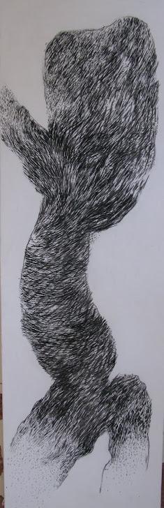 Fusain / toile 190 x 60 2011