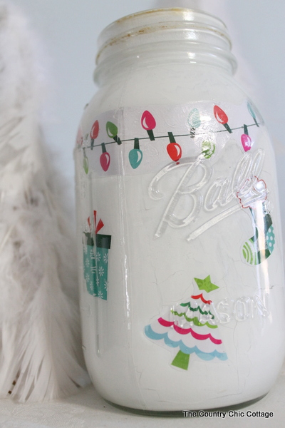 christmas mason jar the country chic cottage. Black Bedroom Furniture Sets. Home Design Ideas