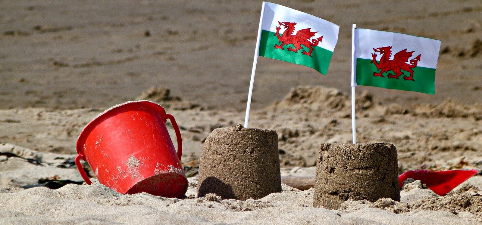 Sandcastles in Wales