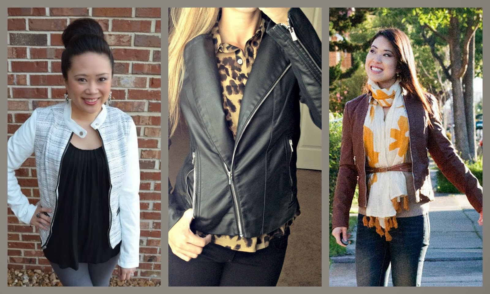 Express (minus the) leather jacket, how to wear, style