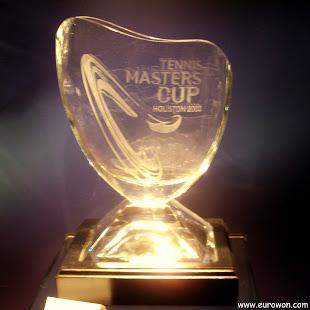 Trofeo para la Master's Cup de tenis de Houston